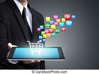 shopping cart application icon - Colorful application icon...