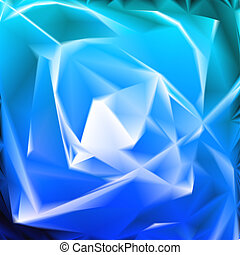 Blue background in the form of flower. Vector