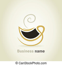 Cup2 - Cup of coffee a sign for design. A vector...