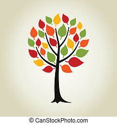Tree wood - Tree with a roundish crone A vector illustration...