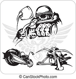 Vector set - Bike symbol. - Crazy Drivers - Vinyl-ready...