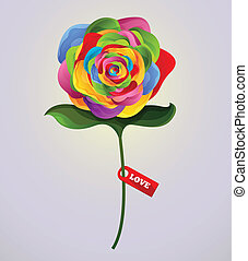 Vector rose colorful