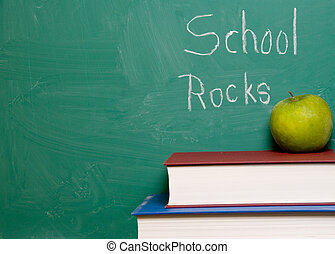 School Rocks - A chalkboard with the words School Rocks.