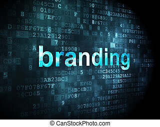 Marketing concept: Branding on digital background -...
