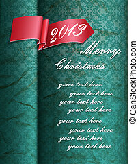 vintage background with red ribbon