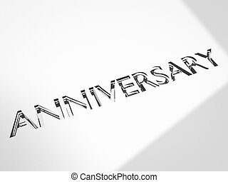 anniversary concepts - engraving of anniversary words on...
