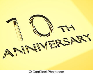 anniversary backgrounds - gold engraving of 10th anniversary...