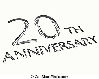 anniversary concepts - engraving of 20th anniversary words,...