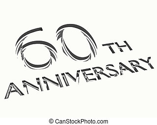 anniversary concepts - engraving of 60th anniversary words,...