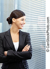 Happy businesswoman - Image of formal businesswoman in suit...