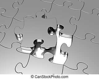 Jigsaw puzzle - Metal Jigsaw puzzle