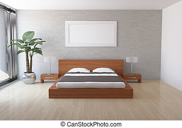 Modern bedroom - Interior of modern bedroom