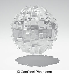 Abstract sphere - Sphere with abstract geometric shapes