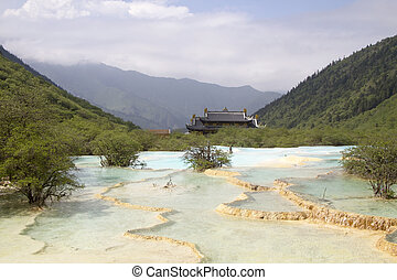 Huanglong Scenic,Sichuan, China - Huanglong Scenic and...