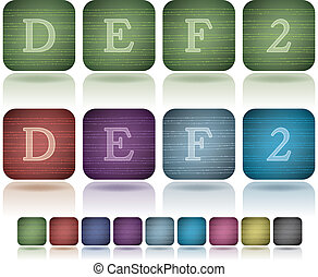 Capital letters - Custom made alphabet (drawn from the...