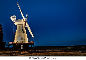 Smock Mill - Woodchurch smock mill at night