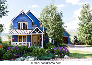 Mountain homes in Crested Butte, Colorado.
