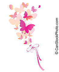 butterflies design - it is done in the program illustrator