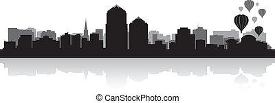 Albuquerque city skyline silhouette - Albuquerque USA city...