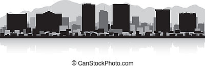 El Paso city skyline silhouette - El Paso USA city skyline...