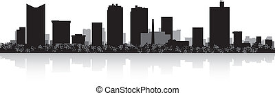 Fort Worth city skyline silhouette - Fort Worth USA city...