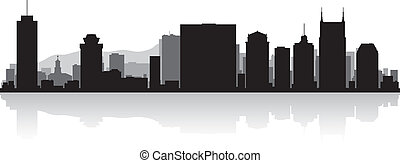 Nashville city skyline silhouette - Nashville USA city...