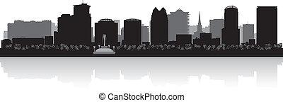 Orlando city skyline silhouette - Orlando USA city skyline...