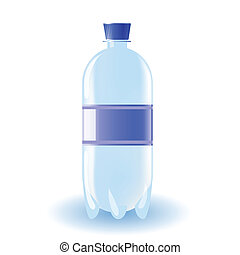 bottle of water - colorful illustration with bottle of water...