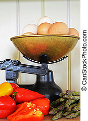 Old Fashioned Scales with Eggs and Vegtables