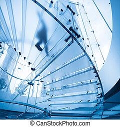 futuristic glass staircase - futuristic glass spiral...
