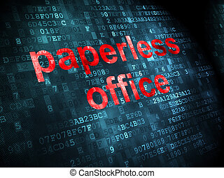 Business concept: Paperless Office on digital background