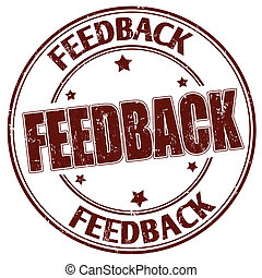 Feedback stamp - Grunge rubber stamp with the text feedback...