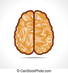 Abstract triangle brain icon,vector illustration