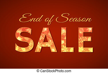 End of season Sale sign for autumn