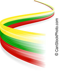 Lithuanian flag - Abstract Lithuanian waving flag isolated...
