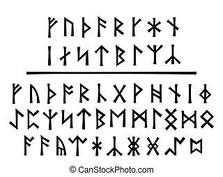 más joven, Runes, el, Northumbrian, orden