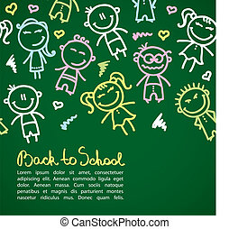 kid background - funny background with hand drawn kids