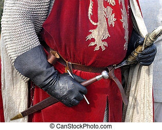 Knight - Costume of the armed medieval knight...