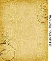 swirls on old paper grunge - old paper background grunge...