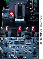 Aircraft Dashboard Panel - Close up vief of an Aircraft...