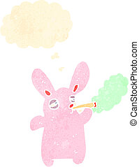 cartoon rabbit smoking marijuana cigarette