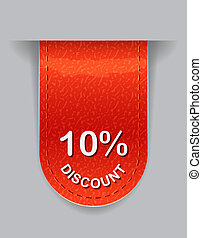 Label with Discount Value - Glossy Label with Discount Value