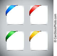 Set of color ribbons.