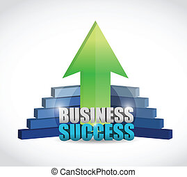 unique business success graph illustration
