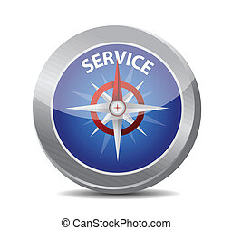 guide to great service. compass illustration