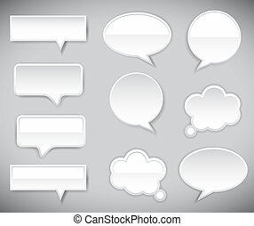 pop-up bubble with shadow on grey background. Vector...