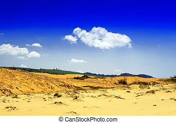 On Edge of Sand Dunes. - On Edge of Sand Dunes near Mui Ne.