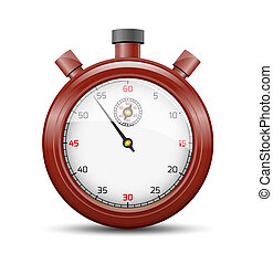 The claret stopwatch - The isolated stopwatch graphic...