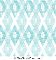Pastel blue fabric ikat diamond seamless pattern background...