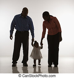 Family portrait - African American man and woman standing...